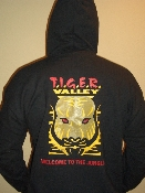 Tiger Valley Hooded Zip-Up Sweat Shirt - Mens